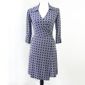 Laundry by Shelli Segal Navy Wrap Dress XS